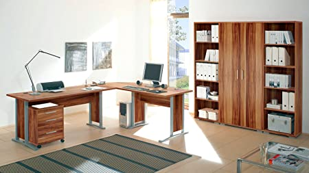 7-tlg. Arbeitszimmer OFFICE LINE in Walnuss