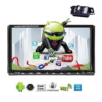Gratuit Cš¢mara Audio y WiFi Receptor Android 4.2 OS Dual Core FM / AM estšŠreo de CD CPU de coches Logo DVD RDS FM AM RDS Radio PC Bluetooth Ipod 8Go de memoria Accesorio transmisor BT Bluetooth del jugador