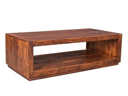 Woodkings® Couchtisch Milburn 116x57cm, Holz Akazie braun, Echtholz modern, Design, Massivholz exklusiv, design lounge coffee table gunstig