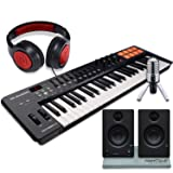 M-Audio Oxygen 49 MK IV 49-Key USB MIDI Keyboard/Drum Pad Controller with VIP Software Download, Presonus Eris E3.5 Monitors, Deluxe Bundle