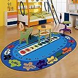 RuiHome Anti-Slip Fruit and Numbers Design Kids Learning Playmat Living Room Bedroom Nursery Rug Gym Activity Floor Mat 31