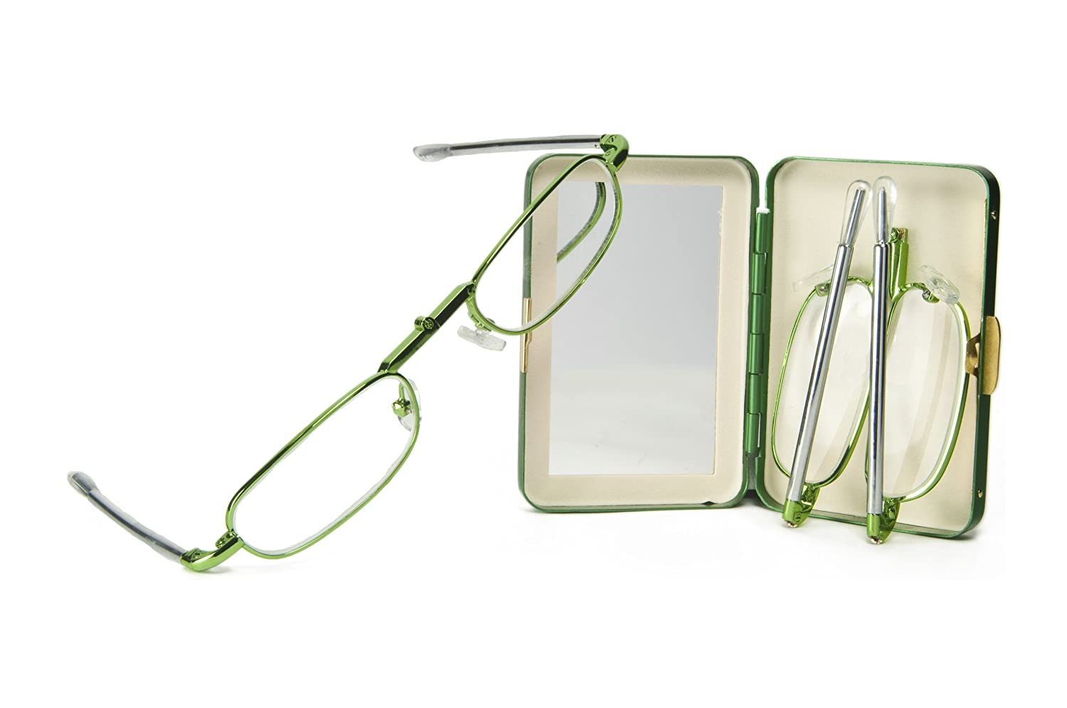 Pocket Eyes Folding Reading Glasses with Case -- Unisex Design -- 8 Colors!