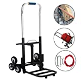 BestEquip 330 LBS Capacity Stair Climber Cart 30 Inch Folded Height Folding Stair Climbing Cart Three-Wheel Chassis Portable Stair Climber Hand Truck (Color: 330lb Capacity)