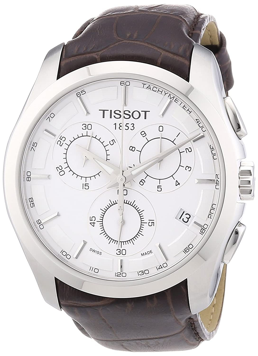 buy tissot men s couturier watch t0356171603100 leather chrono buy tissot men s couturier watch t0356171603100 leather chrono online at low prices in amazon in