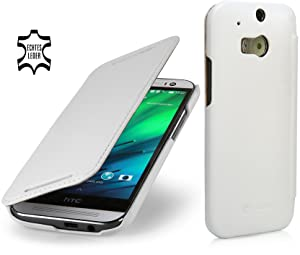 StilGut® Book Type, Leather Case for HTC One M8, White Nappareview and more information