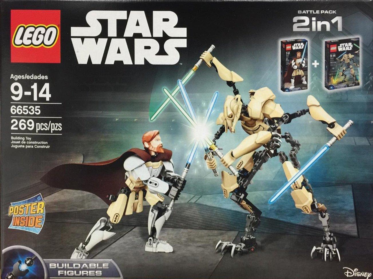 itm LEGO Star Wars  Obi Wan Kenobi vs General Grievous Battle Pack New