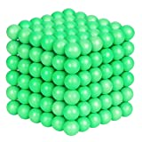 ATESSON Magnetic Sculpture Balls Intellectual Office Toys Anxiety Stress Relief Killing Time Puzzle Creative Educational Toys for Kids Adults (Luminous,5mm) (Color: Luminous)