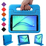 BMOUO Kids Case for Samsung Galaxy Tab A 8.0 (2015) SM-T350 - Shockproof Case Light Weight Kids Case Super Protection Cover Handle Stand Case for Kids Children for Samsung TabA 8-inch Tablet - Blue (Color: Blue, Tamaño: Galaxy Tab A 8.0)