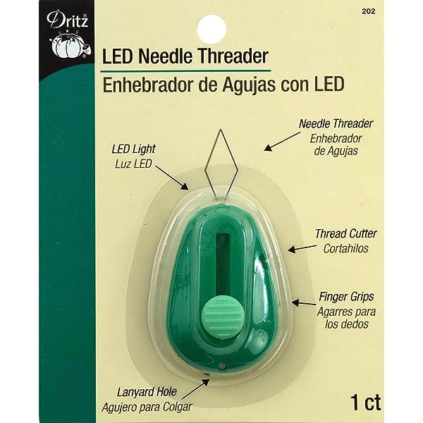 Dritz 202  LED Lighted Needle Threader, Green