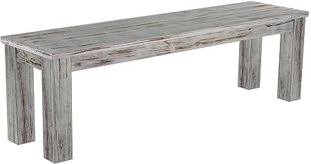 Brasil Möbel panca 'Rio classico' 150cm, in legno massello di pino, tonalità Shabby in legno di quercia