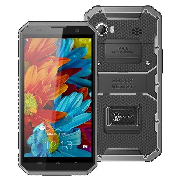Hotsale! W9 Unlocked Cellphone 6inch 4G Phablet Octa Core Smartphone Android 5.1 2GB RAM 16GB ROM IP68 (Gray) (Color: Gray, Tamaño: Kenxinda W7)