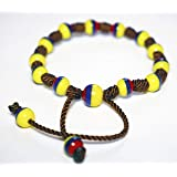 Typical Handmade Bracelet Made by Native Artisans Colombia Ecuador Venezuela (Handmade Bracelet Beads) (Color: Yellow,Blue,Red)