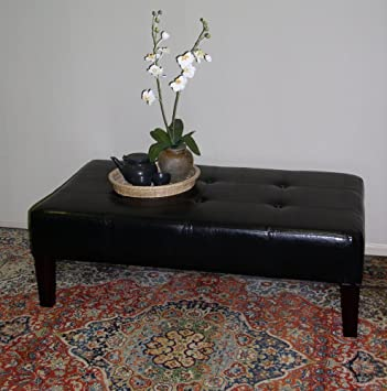 4D Concepts Large Faux Leather Coffee Table