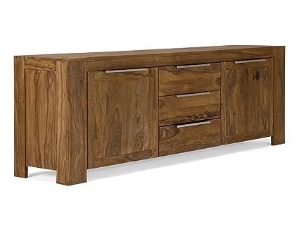 massivum Sideboard Stark 228x77x50 cm Palisander braun gewachst