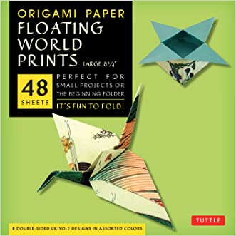 """Origami Paper - Floating World Prints - 8 1/4"""" - 48 Sheets: (Tuttle Origami Paper)"""