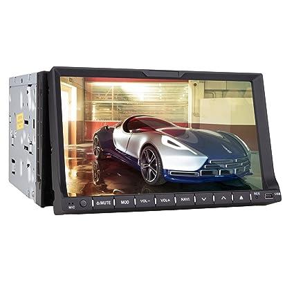 7-pouces écran 2 din voiture lecteur dvd tft au tableau de bord avec le bluetooth, gps de navigation lire, ipod-entrée, tv