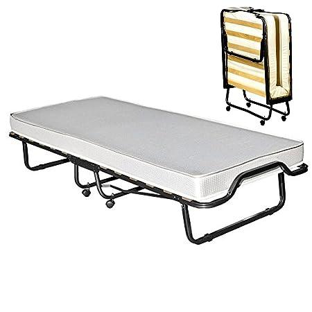 Veraflex Colonia cama invitados, metal marco antracita, colchón gris claro, metal, Rahmen: anthrazit, Matratze: hellgrau, 90 x 200 cm