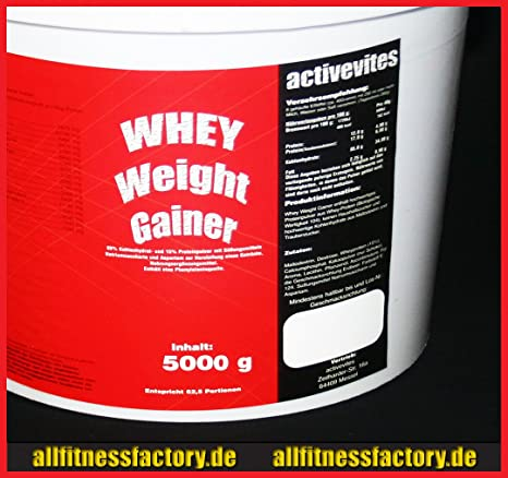 Whey Weight GAINER 5kg Hard Gainer Masse SCHOKO ASPARTAMFREI