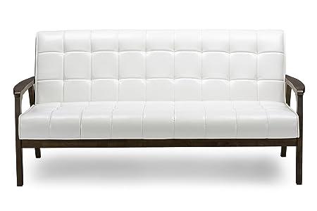 Baxton Studio Mid-Century Masterpieces Sofa, White