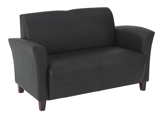 Eco Leather Love Seat Black