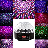 EconoLed Mini LED RGB Crystal Magic Ball Effect light DMX Disco DJ Stage Lighting (Color: Black)