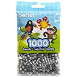 Perler Beads Fuse Beads for Crafts, 1000pcs, Metallic Silver (Color: Silver)