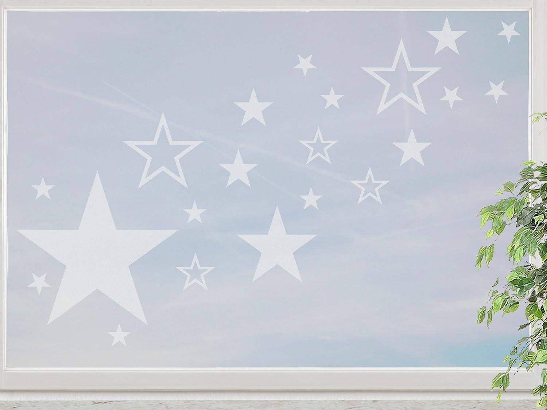 wandfabrik – Fenstersticker 82 Sterne – frosty – 798 – (Hg) bestellen