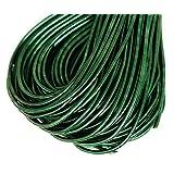 10g Dark Emerald Green Round Smooth Copper Hand Embroidery French Fine Metallic Wire Goldwork Bullion Luneville Tambour Indian Gimp Dabka (Color: Dark Emerald Green, Tamaño: 1mm)