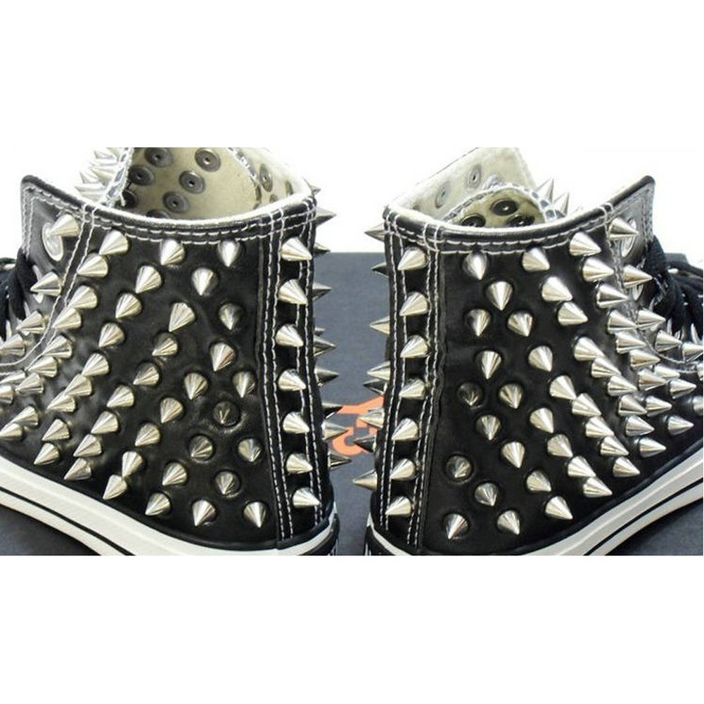 Spikes attached to sneakers