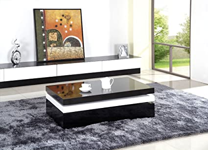 Modrest YA376 Modern Black and White Coffee Table
