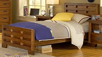 American Woodcrafters 1800 Heartland Captains Bed Twin