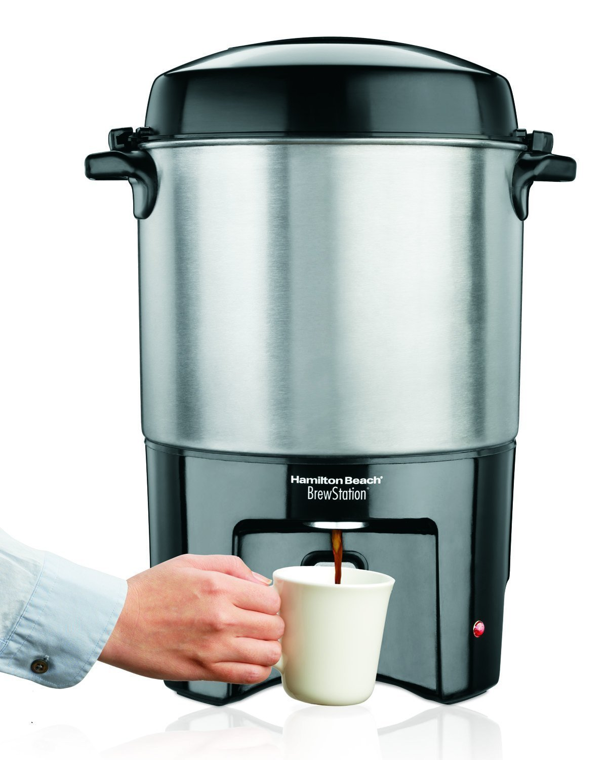 Dual Coffee Maker Hot Water Dispenser : New Commercial Coffee Maker 40 Cup Urn Dispenser Machine Water Heater Station eBay