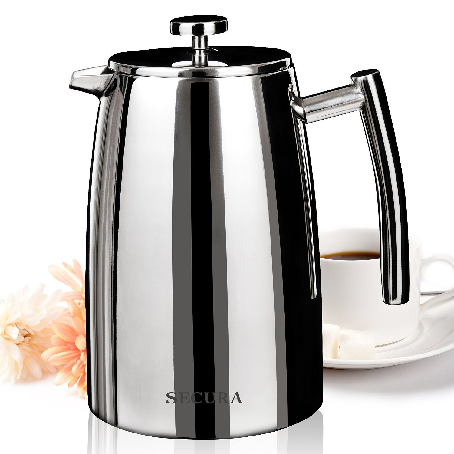 Secura 1500ML French Press Coffee Maker 50-Ounce Stainless Steel 18/10 SFP-50... eBay