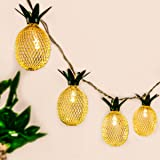 GIGALUMI Pineapple String Lights, 10ft 10 LED Fairy String Lights Battery Operated for Christmas Home Wedding Party Bedroom Birthday Decoration (Warm White)
