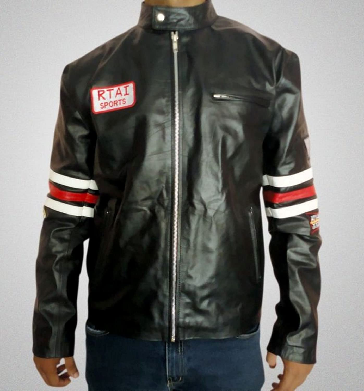 HLS M.D. Gregory House Motorcycle Biker Armoured Film Cowhide Leather Jackets