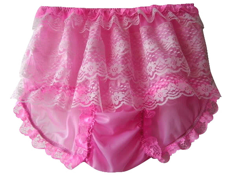 Frauen Handgefertigt Schlüpfer Neu US8H1 Pink Briefs Nylon Panties Knicker Lacy günstig kaufen