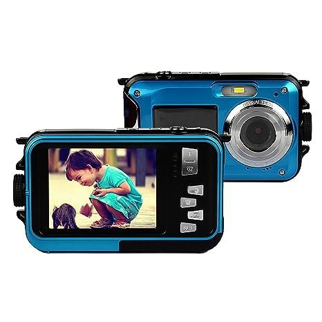 PowerLead Double écran étanche appareil photo numérique 2,7 pouces LCD avant avec 2.7inch caméra