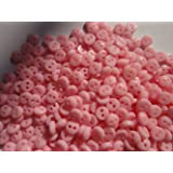 Lyracces Wholesale Lots 1000pcs Mini Small Dot Baby Craft DIY Sewing Fasteners Flatback Resin Buttons 5mm (Pink) (Color: Pink)