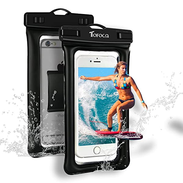 Floating Waterproof Phone Pouch Universal IPX8 Waterproof Case Water Resistant Cell Phone Case Dry Phone Bag For iPhone XS Max//XS//XR//X//8//7 Samsung Galaxy S10//S9//S8 Note 9//8 Google Pixel 4//3//2 XL