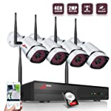 Wireless Security Camera System,ANRAN Full HD 4CH 1080P Wireless Video Security System with 1TB HDD(WIFI NVR KIT),4pcs 1080P Indoor Outdoor Wireless IP Cameras,P2P,65ft Night Vision,Easy Remote View (Color: 4CH 1080P Security Camera System Wireless with 1TB HDD)