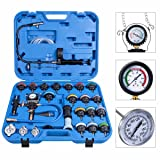 Toolsempire 28 pcs Set Universal Radiator Pressure Tester and Vacuum Type Cooling System Kit Automotive Radiator Pressure Test Kit Cooling System Purge and Refill Kit