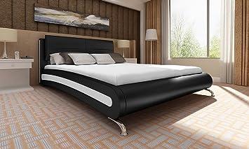 Cama Palermo negro 180x 200con colchón