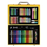 KIDDYCOLOR Deluxe Art Set for Kids 159 Piece with DIY Suitcase,Colored pencils Crayons,Painting (Tamaño: 159 pcs)