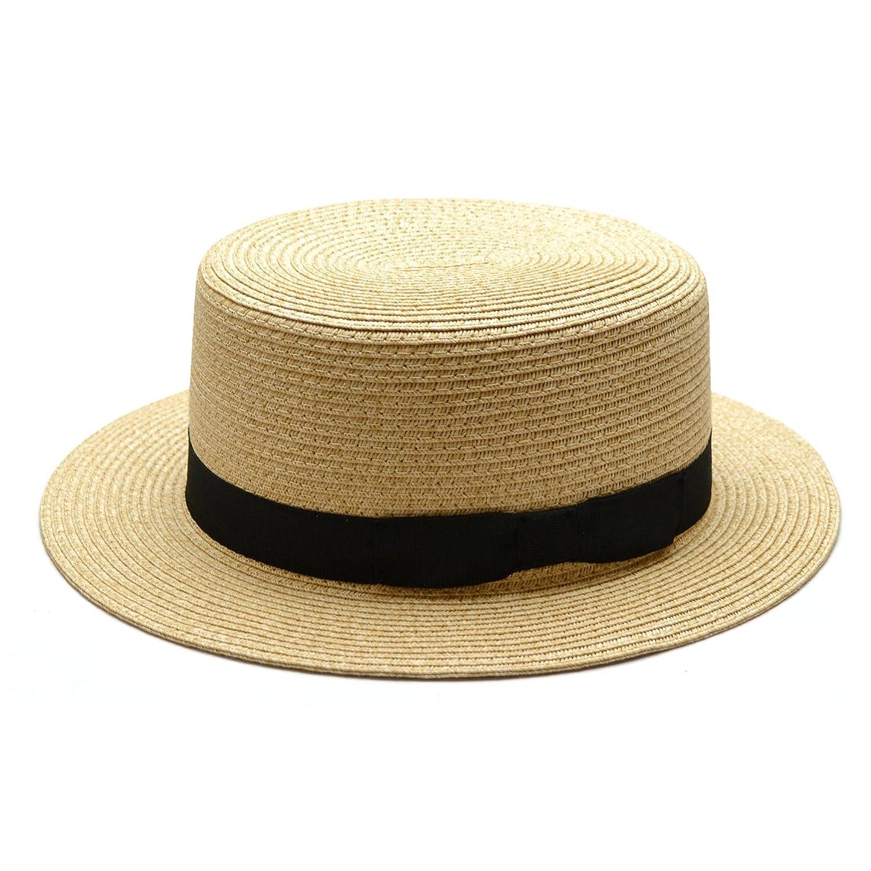 Amazon.co.jp: (トライバル)TRIBAL 甘さ控えめスマートリボン巻き ナチュラル素材カンカン帽 ナチュラルミックス: 服&ファッション小物通販