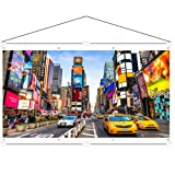 JaeilPLM Indoor, Outdoor 80 Inch 16:9 Projector Screen. Instant Wrinkle-Free Triangle Hanging Design. 4-Hook Tension Technology. For Home Theater, Gaming, Office, and Movie Projection. 4K Compatible. (Tamaño: 80