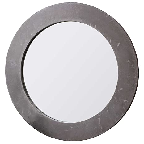 Large Chilson Concrete Round New Wall Mounted Mirror 3ft11 (119.5cm)
