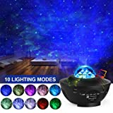LED Star Projector, Kids Star Night Light Music Speak Light Show Night Lamp Ocean Wave Projector Light with Adjustable Lightness Remote Control Star Projector for Kids Adult Bedroom Living Room Decor (Color: Black)