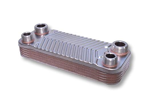 Hrale Edelstahl Wärmetauscher 10 Platten max. 22 kW Plattenwärmetauscher