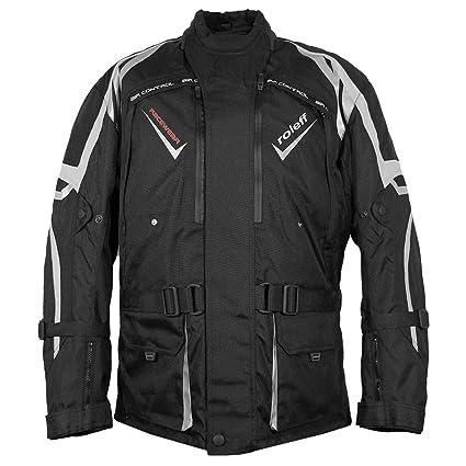 Roleff Racewear 5297 Blouson de Moto  Vevey en Tissu Noir