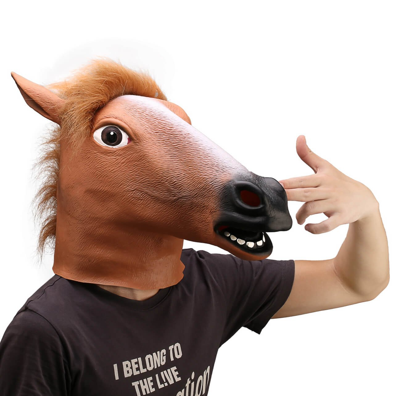 Ylovetoys Latex Horse Head Mask Halloween Costume Animal Masks 1